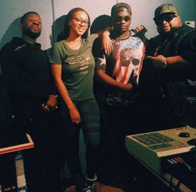 New Music In The Works? Wande Coal, Keri Hilson Pictured In The Studio