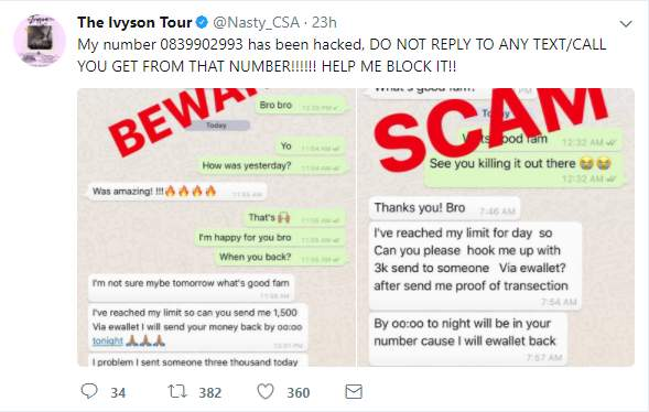 Nasty C's Phone Number Hacked By Scammers » Hitvibes