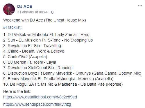 Mp3 Download » DJ Ace - Weekend with DJ Ace (The Uncut House Mix