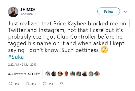 Hitvibes Prince Kaybee and Shimza in war of words on Twitter over 'Club Controller' Featured News  South Africa Prince KayBee DJ Shimza