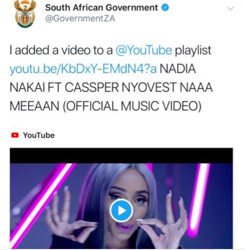 Say what! The South African government added Nadia Nakai's