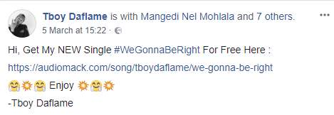 Hitvibes TBoy DaFlame – We Gonna Be Right (Malusi Gigaba Vox) Music  Tboy Daflame South Africa Gqom