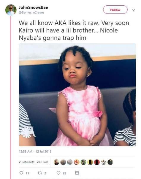 Hitvibes Twitter goes berserk as picture of Nicole Nyaba in AKA's crib surfaces News  South Africa Nicole Nyaba AKA