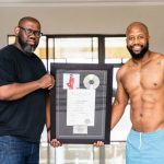 Cassper Nyovest receives the plaque as 'Sweet and Short' album goes platinum