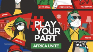 Photo of DJ Maphorisa, Kabza De Small, Sha Sha, Rouge, Tresor, YoungstaCPT, Riky Rick & Dee Koala – Play Your Part (Africa Unite)